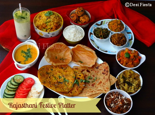 Rajasthani festive platter desi fiesta for All about indian cuisine