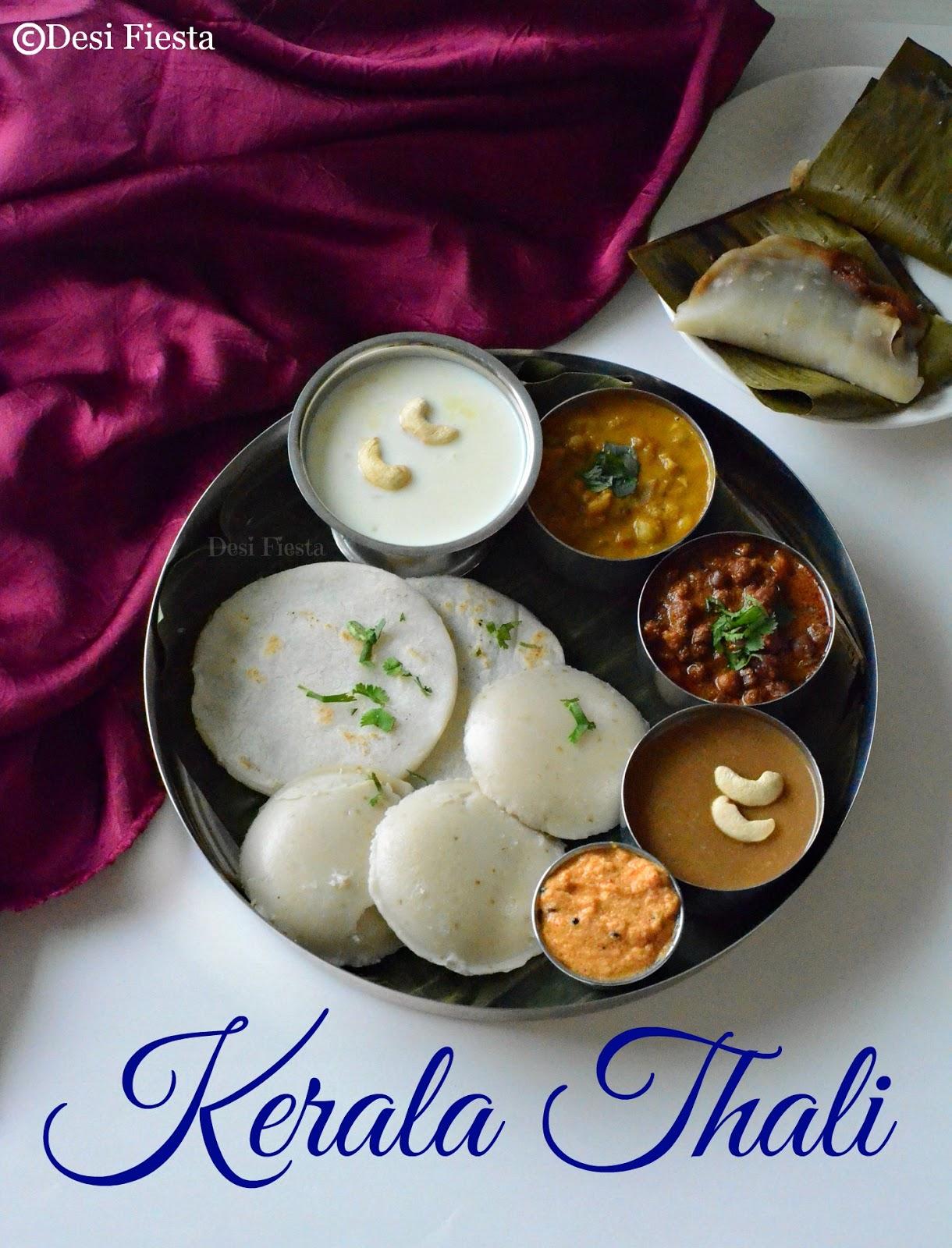 Kerala thali kerala aharam desi fiesta for Cuisine kerala