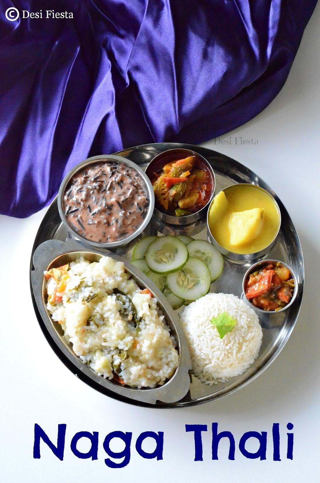 Naga thali nagaland cuisine desi fiesta for Cuisine youtube